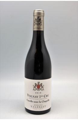 Yvon Clerget Volnay 1er cru Carelle Sous la Chapelle 2019