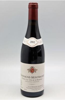 Ramonet Chassagne Montrachet 1er cru Boudriotte 2002 rouge