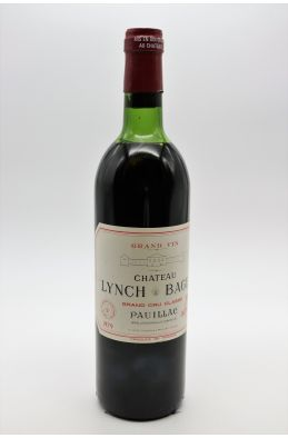 Lynch Bages 1979 - PROMO -10% !