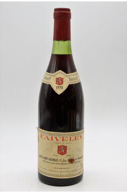 Faiveley Nuits Saint Georges 1er cru Clos de la Maréchale 1978