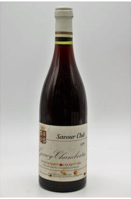 Savour Club Gevrey Chambertin 1er cru Lavaux St Jacques 1979