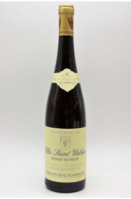 Zind Humbrecht Alsace Grand Cru Gewurztraminer Rangen de Thann Clos Saint Urbain 1995