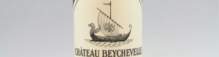 The picture shows a bottle of the great wine chateau Beychevelle Saint Julien from Bordeaux