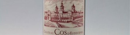 the picture shows a bottle of Cos d Estournel Saint Estephe wine, bordeaux