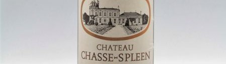 The picture shows a bottle of the great wine chateau Chasse Spleen Moulis en Medoc from Bordeaux