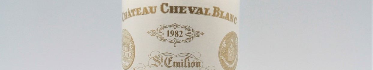 The picture shows a bottle of the great wine chateau Cheval Blanc Saint Emilion from Bordeaux