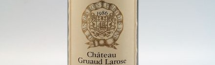 The picture shows a grand cru bottle of Chateau Gruaud Larose wine from Bordeaux