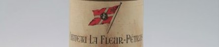 The picture shows a grand cru bottle of Chateau La Fleur petrus wine from Bordeaux