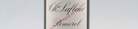 The picture shows a grand cru bottle of Chateau Lafleur wine from Bordeaux