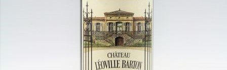 La photo montre une bouteille du grand vin du chateau leoville barton à saint julien à Bordeaux