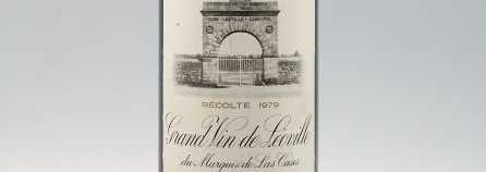 La photo montre une bouteille du grand vin du chateau leoville las cases à saint julien à Bordeaux