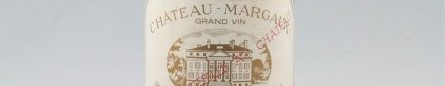 The picture shows a bottle of the great wine chateau Margaux from Bordeaux
