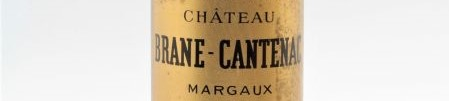 The picture shows a bottle of the great wine chateau Brane Cantenac Margaux from Bordeaux