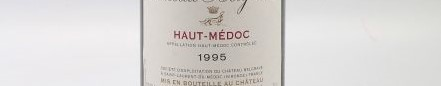 the picture shows a bottle of haut medoc wine