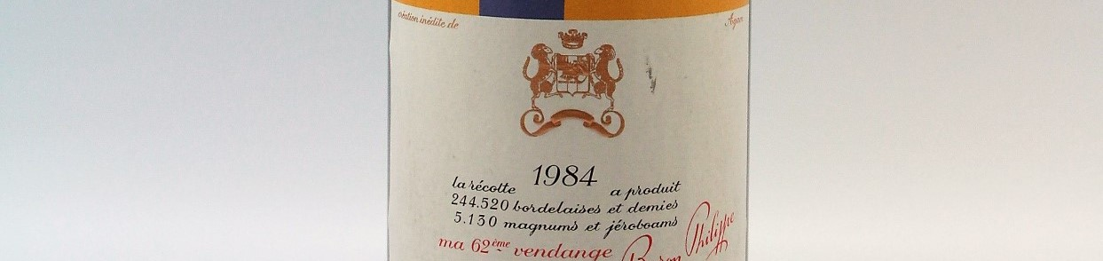 the picture shows a bottle of the 1984 vintage