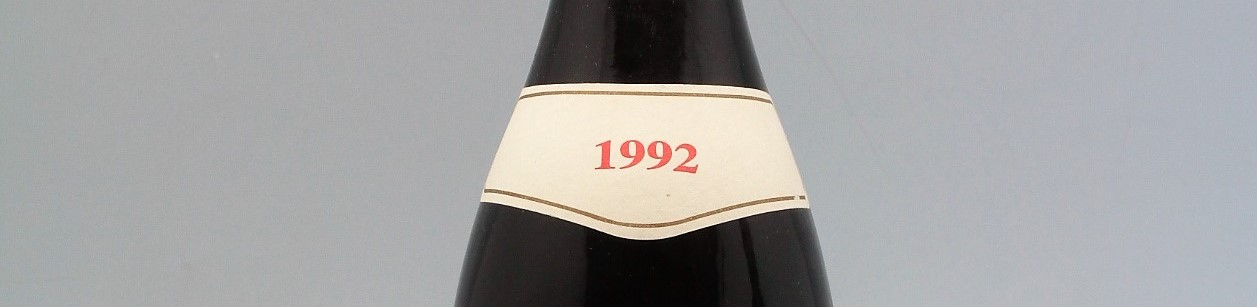 the picture shows a bottle of the 1992 vintage