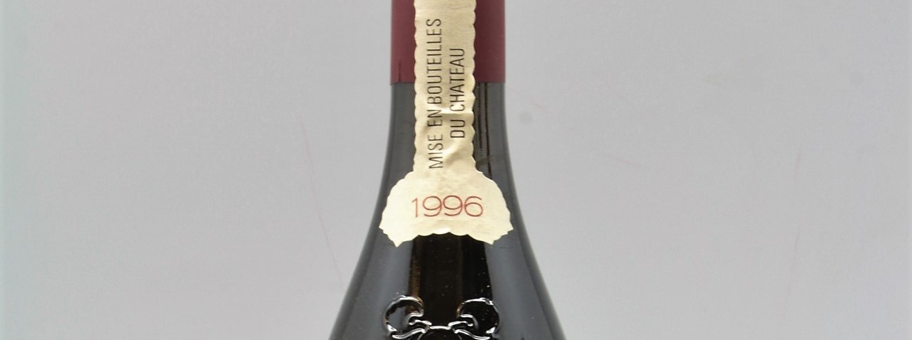 the picture shows a bottle of the 1996 vintage