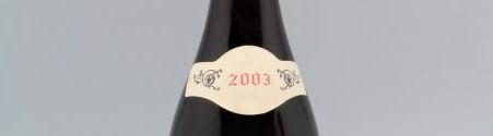 the picture shows a bottle of the 2003 vintage