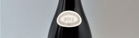 the picture shows a bottle of the 2012 vintage