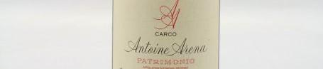 La photo montre une bouteille de vin Patrimonio Grotte Di Sole du Domaine Antoine Arena situé à Patrimonio en Corse