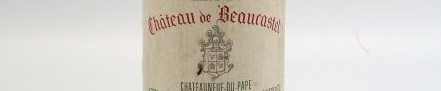The picture shows a bottle of chateauneuf du pape from chateau beaucastel from rhone