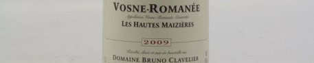 The picture shows a bottle of a Vosne Romanee from Bruno Clavelier from Burgundy