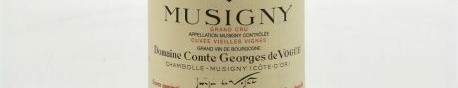 The picture shows a bottle of a Musigny grand cru from Comte de Vogue from Burgundy