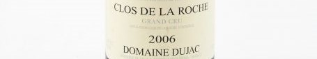 The picture shows a bottle of a Clos de La Roche grand cru from Dujac from Burgundy