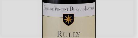 La photo montre une bouteille de vin du domaine Dureuil Janthial en Bourgogne