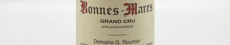 The picture shows a bottle of bonnes mares grand cru from georges roumier from Burgundy