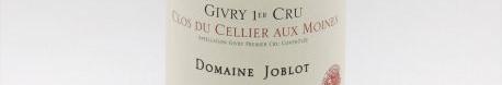 La photo montre une bouteille de vin du domaineJoblot en Bourgogne