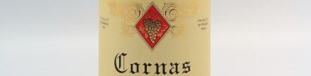 The picture shows a bottle of Cornas from the domaine Clape Auguste in the rhone valley