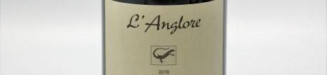 La photo montre une bouteille de vin du domaine de l'anglore dans le Rhone