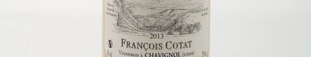 The picture shows a bottle of a sancerre from francois cotat from loire valley