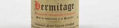 The picture shows a bottle of Hermitage from domaine jean louis chave in the rhone valley