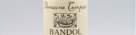 The picture shows a bottle of bandol from domaine Tempier from Provence
