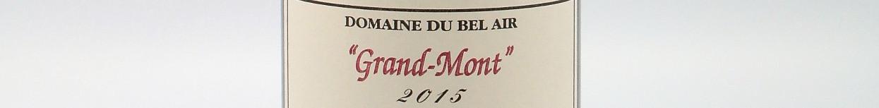 La photo montre une bouteille de vin de l'appelatio Bourgueuil du domaine Bel Air dans la Loire.