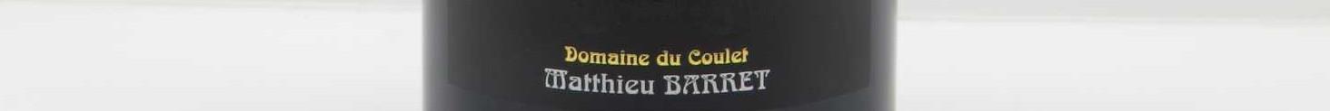La photo montre une bouteille de l'appelation Cornas du Domaine du Coulet dans le Rhône.