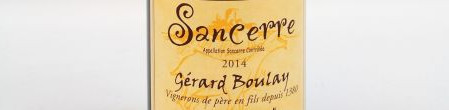 The picture shows a bottle of a sancerre from Gerard Boulay in the Loire valley
