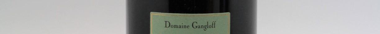 La photo montre une bouteille du vin de l'appelation Côte-Rotie du domaine Gangloff de la Vallée du Rhône Nord