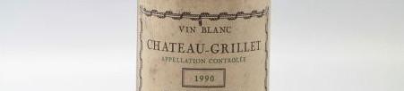 La photo montre une bouteille du vin de l'appelation Hermitage du Chateau Grillet dans la Vallée du Rhône