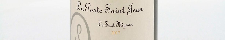 La photo montre une bouteille de vin de l'appellation Vin de France du domaine La Porte Saint Jean dans la Loire.