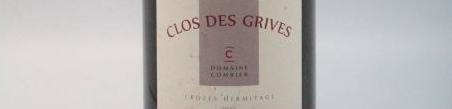 La photo montre une bouteille de l'appelation Crozes Hermitage du domaine Laurent Combier de la Vallée du Rhone Nord