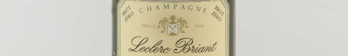 La photo montre un Champagne du domaine de Leclerc Briant.