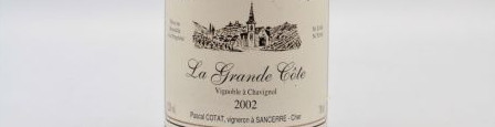 The picture shows a bottle of sancerre from pascal cotat from loire.