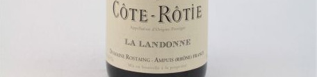 The picture shows a bottle of Cote Rotie from domaine Rene Rostaing in the rhone valley