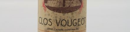 the picture shows a bottle of Clos Vougeot wine, burgundy