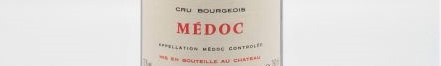 the picture shows a bottle of MEDOC wine, bordeaux