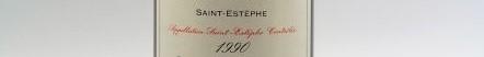 the picture shows a bottle of Saint Estephe wine, bordeaux
