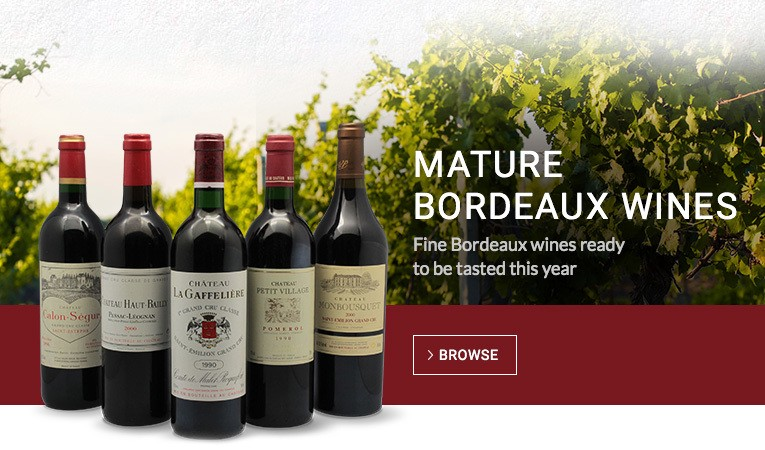Mature fine Bordeaux wines